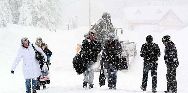 """Meteorolojiden """"yoğun kar yağışı"""" uyarısı"""