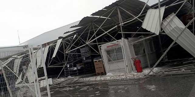 OSB'de bir fabrikanın çatısı çöktü: 5 yaralı