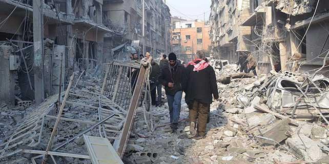 Şam'da hava saldırısı: 35 ölü
