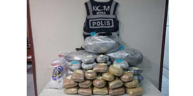Sivas'ta uyuşturucuyla mücadele