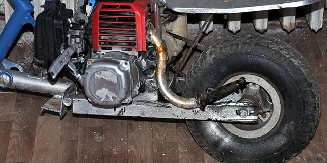 Tırpan motorundan bisiklet