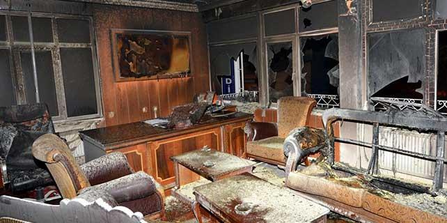 Tunceli'de molotofkokteylli saldırı