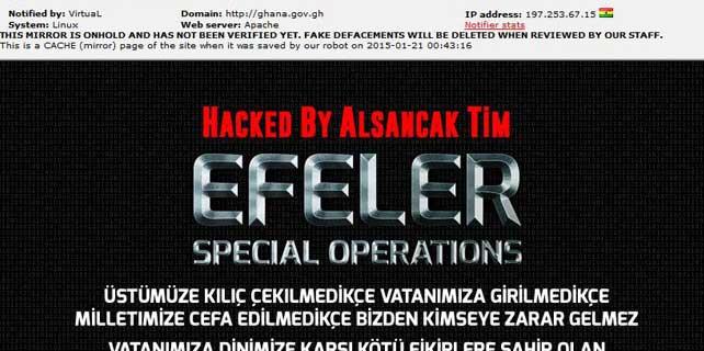 Türk hackerler, Gana'daki bakanlık sitelerini hackledi