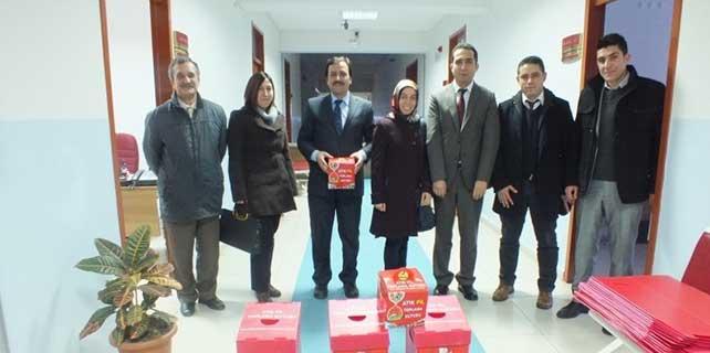 Ulaş'ta atık pil toplama kampanyası başlatıldı