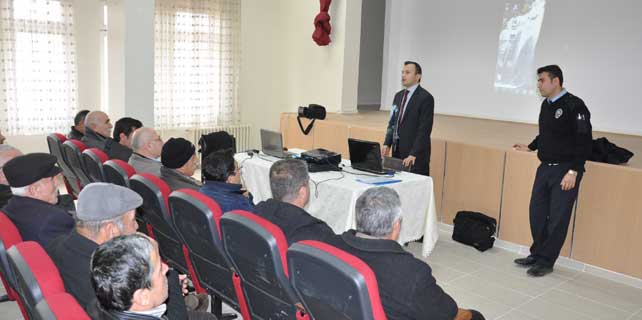Yerköy'de servis şoförleri bilgilendirildi