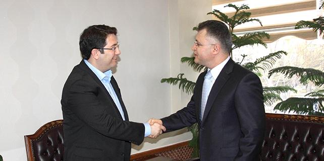 Aksaray İdare Mahkemesi Başkanı Yılmaz'dan Yazgı'ya ziyaret