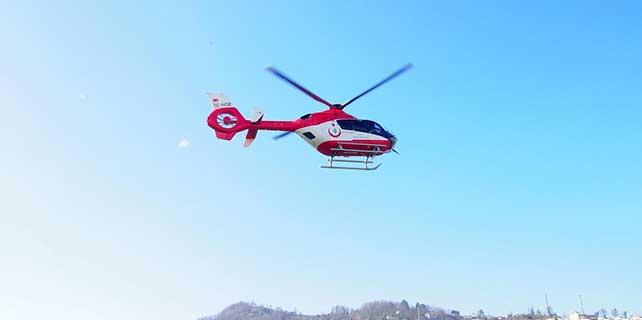 Ambulans helikopter, astım hastası çocuk için havalandı