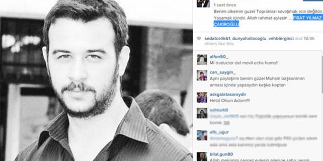 Arda Turan'dan 'Fırat Yılmaz Çakıroğlu' mesajı
