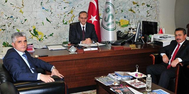 Başkan Tutal'dan, DSİ Genel Müdürü Diniz'e ziyaret