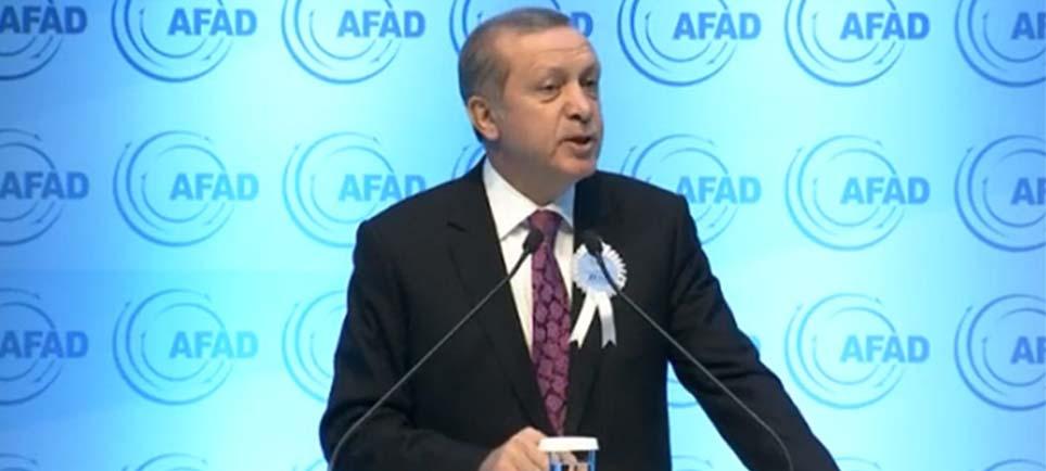 Cumhurbaşkanı AFAD töreninde Avrupa'ya sert çıktı
