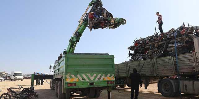 El konulan motosiklet ve otomobiller MKE'ye gönderildi