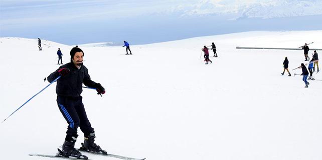 Hizanlılar kayak merkezinde buluştu