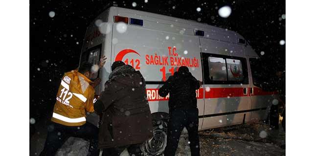 Kahramanmaraş'ta hasta kurtarma operasyonu