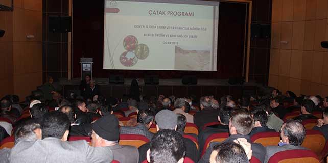 Karapınarda 'Çatak Projesi' anlatıldı