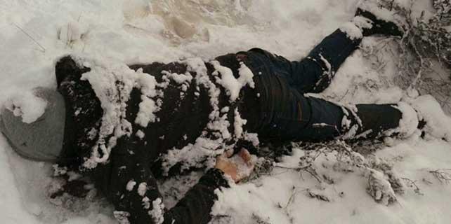 Karların arasında erkek cesedi bulundu