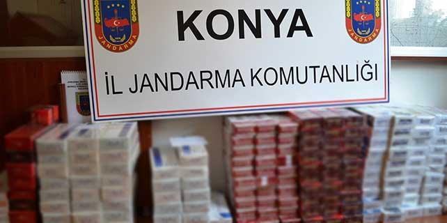 Konya'da 2 bin 500 paket kaçak sigara ele geçirildi