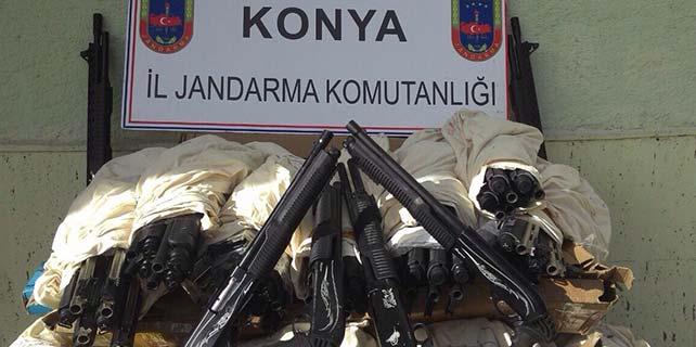 Konya'da 48 tüfek ele geçirildi