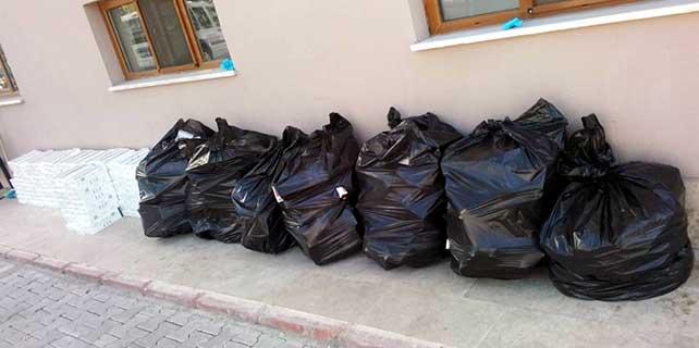Konya'da 5 bin 960 paket kaçak sigara bulundu
