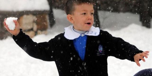 Konya'da eğitime kar tatili