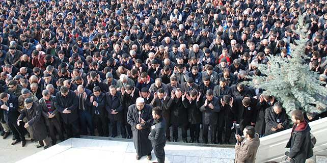 Konya'da gıyabi cenaze namazı kıldılar