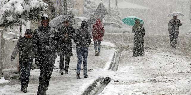 Kuvvetli rüzgar ve kar yağışı !
