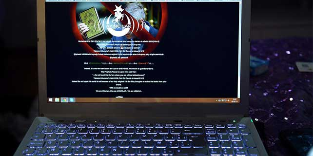 O internet sitesi hacklendi