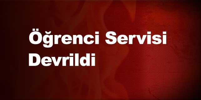 Öğrenci servisi devrildi: 8 yaralı