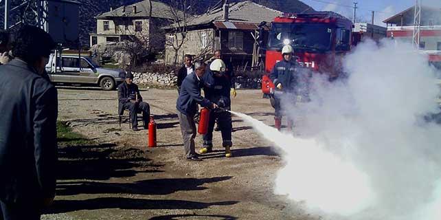 Seydişehir'de yangın tatbikatı