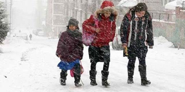Sivas eğitime kar engeli