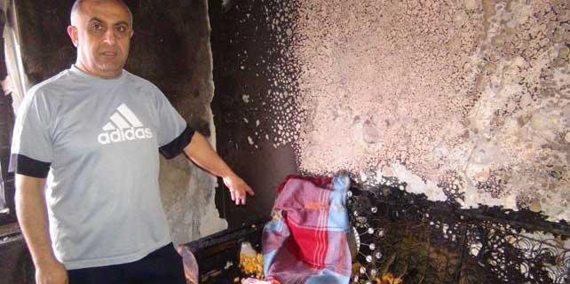 Televizyon patladı çıkan yangın evi kül etti