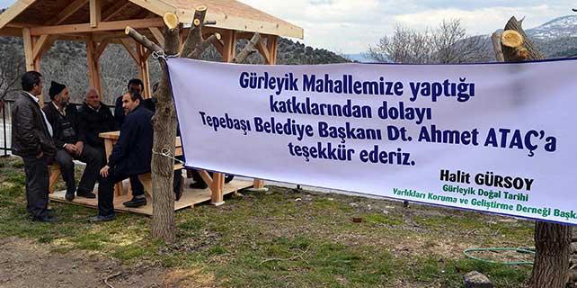 Tepebaşı Belediyesi'nden Gürleyik'e destek