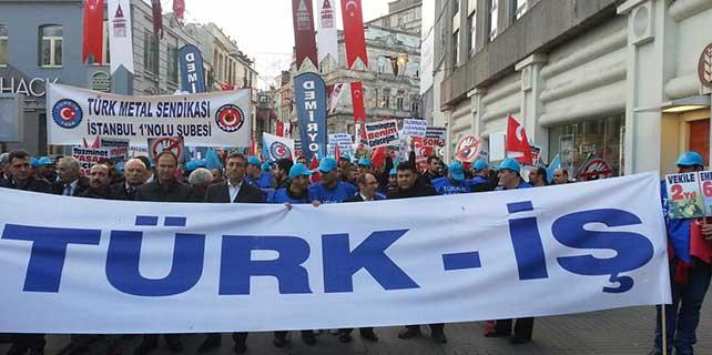Türk-İş'ten kıdem tazminatı protestosu