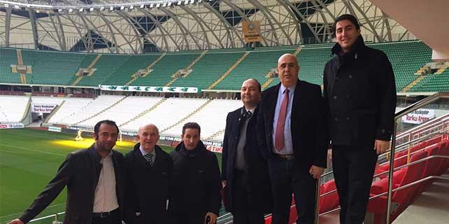 Uefa yetkilileri stadı denetledi