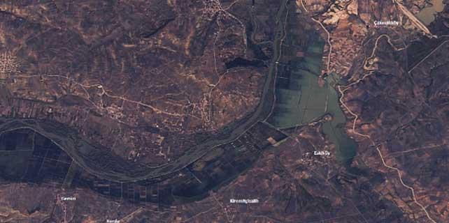 Uydu fotoğraflarıyla Edirne'deki sel felaketi
