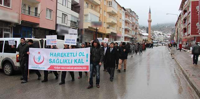 Yozgat'ta sağlıklı yaşam yürüyüşü