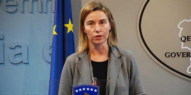 AB Dış İlişkiler Yüksek Temsilcisi Mogherini, Kosova'da
