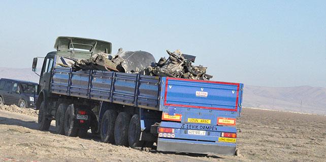 Askeri uçağın düştüğü yerdeki incelemeler tamamlandı