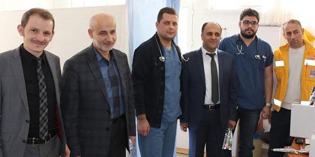 Başkan Özaltun'dan hastaneye ziyaret
