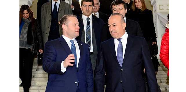 Dışişleri Bakanı Çavuşoğlu, Malta'da