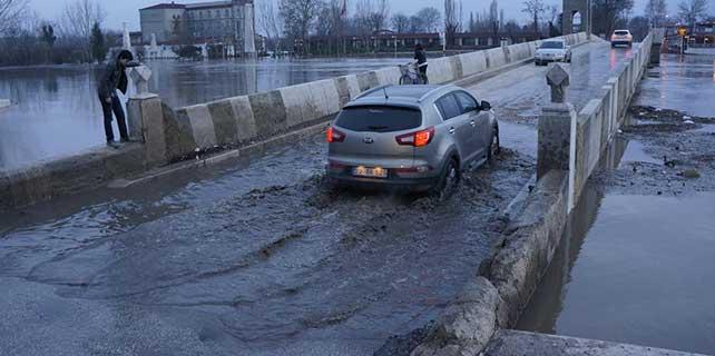 Edirne'deki nehirlerin debilerinin yükselmesi