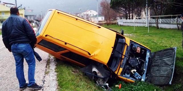 Erdek'te trafik kazası: 1 yaralı