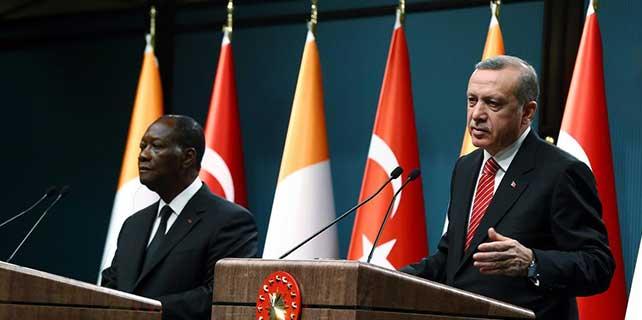 Fildişi Sahili Cumhuriyeti Cumhurbaşkanı Vattara Ankara'da