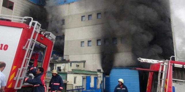 Hadımköy'de yangın