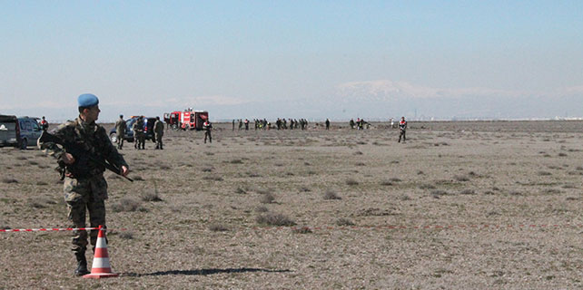 Konya'da askeri uçak düştü: 2 pilot şehit – Foto Galeri