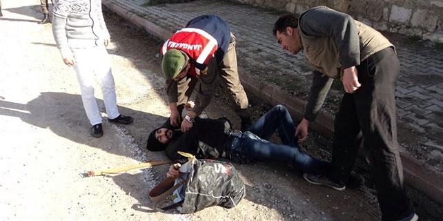 Konya'da Jandarma'dan ilk yardım