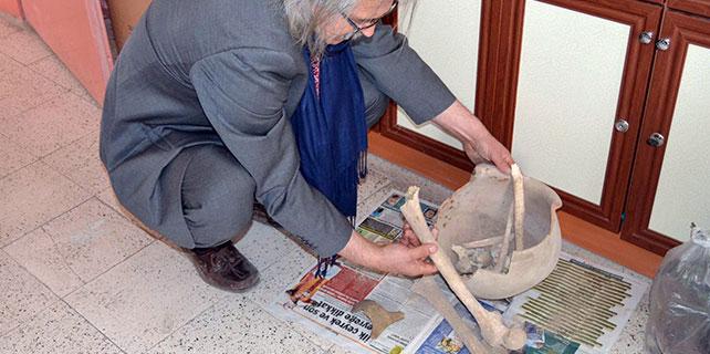 Konya'da küp içerisinden kemik parçaları çıktı
