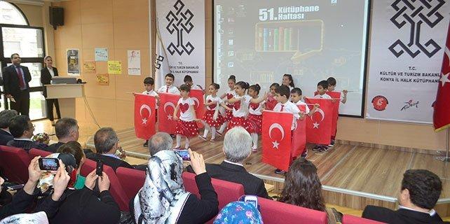 Konya'da kütüphaneler haftası kutlamaları