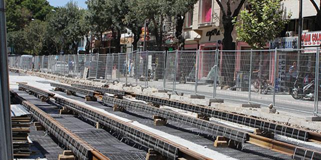 Konya'da tramvay hattı çalışması