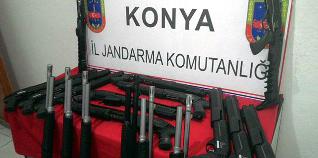 Konya'da tüfek sevkiyatı jandarmaya takıldı