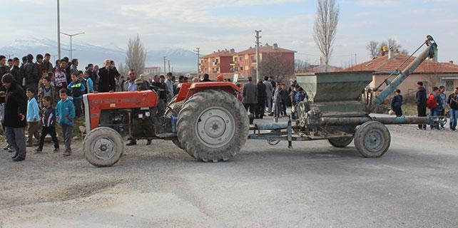 Konya'da yol kapama eylemi